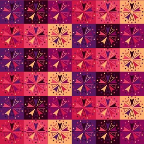 Circus Squares - Berry Sunset