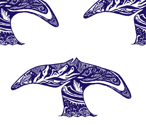 whales fabric by sarahcrystal on Spoonflower - custom fabric