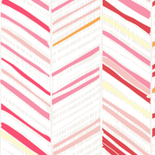 Herringbone Hues of Bubblegum Pink by Friztin