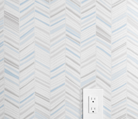 Herringbone Hues of Pastel Blue by Friztin