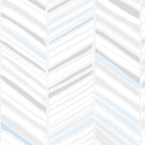 Herringbone Hues of Pastel Blue by Friztin