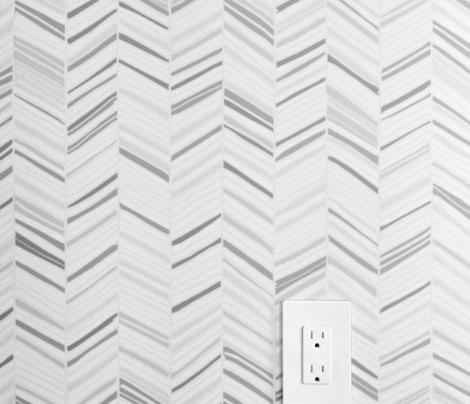 Herringbone Hues Grayscale by Friztin