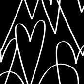 Big Hearts in Black by Friztin