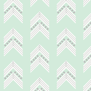 mint gray chevron