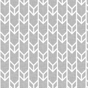 double chevron gray linen