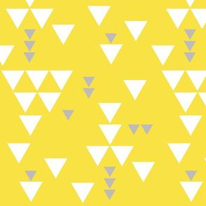 yellow gray triangle fall