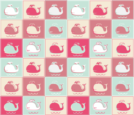 Whales_by_les_ephelides_design fabric by les_ephelides_design on Spoonflower - custom fabric
