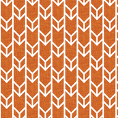 double chevron rust linen