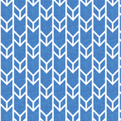 double chevron navy linen