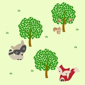 Forrest of cute animals