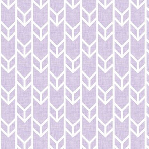 double chevron lilac linen