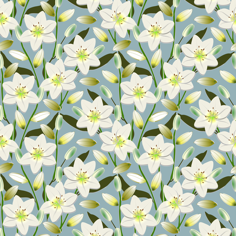 Lily Field fabric by eclectic_house on Spoonflower - custom fabric