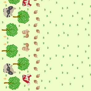 Forrest of Cute Animals Double Border