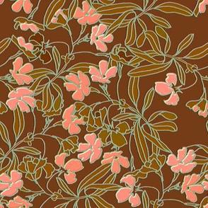Garden Floral Earth tone