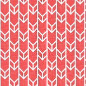 double chevron coral linen