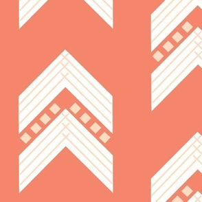 coral blush chevron