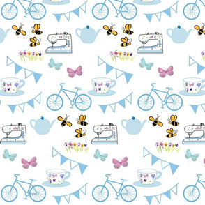 Afternoon Tea Blue Bunting