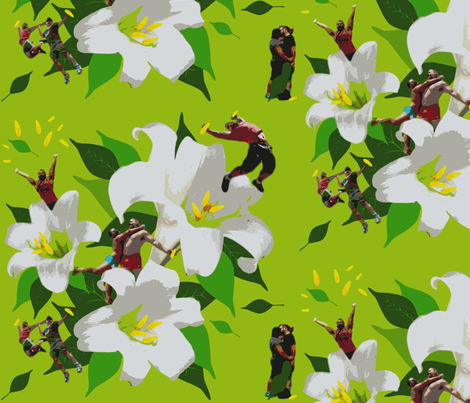 Lily Boys Stamen Service fabric by dscougar on Spoonflower - custom fabric
