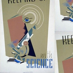 Keeping Up with Science WPA Poster