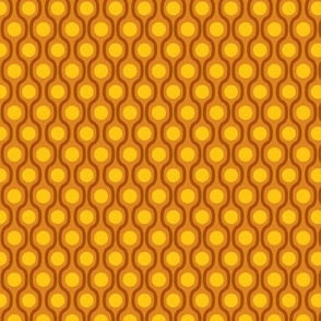 waves and dots brown yellow small