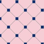 floor tiles - pink navy