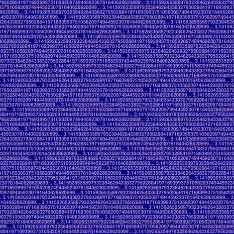 Pi digits purple and blue