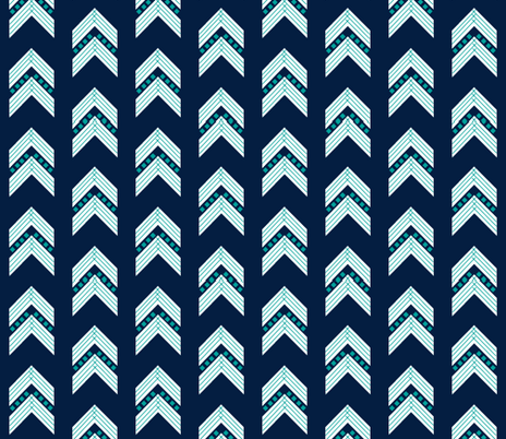 navy emerald chevron