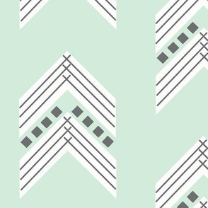mint charcoal chevron