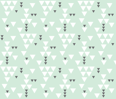 mint charcoal triangle fall fabric by ivieclothco on Spoonflower - custom fabric