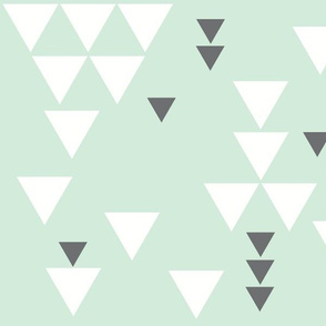 mint charcoal triangle fall