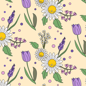 Dotty Spring Flowers