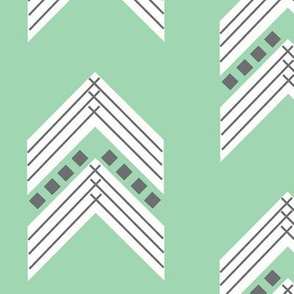 seafoam charcoal chevron