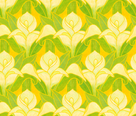 Long-stem Calla Lilies fabric by elramsay on Spoonflower - custom fabric