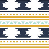 navy aztec stripe