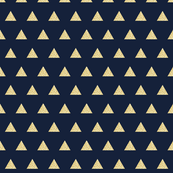 gold glitter triangles on navy // small