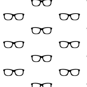 Geek Glasses on White