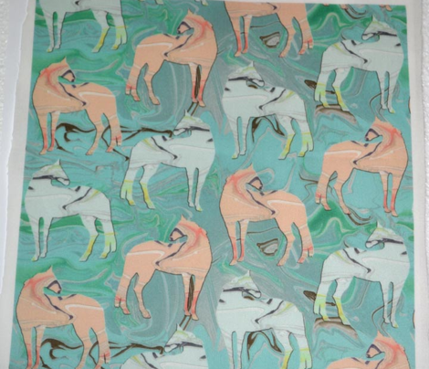 Inlaid Marble Horses 3