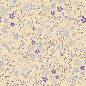 Cream and Purple Meadow