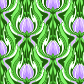Electric Tulip Purple and White