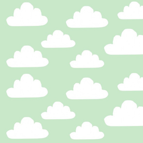 Modern Mint Clouds