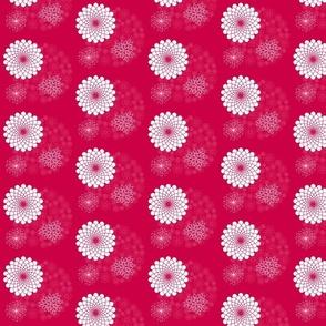 Floral on Fuscia