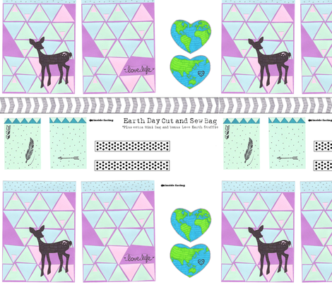 triangle deer tote fabric by tiffany_r on Spoonflower - custom fabric