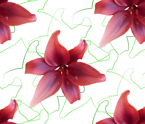 Red Lilies fabric by pirate_designs on Spoonflower - custom fabric
