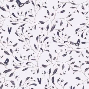 bird floral pattern s size