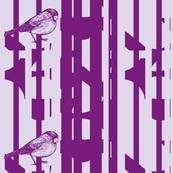 Bird on a Wire purple