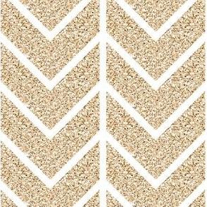 chevron // gold glitter v. I