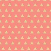 gold glitter triangles on geranium // small