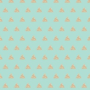 gold sparkle v. I triangles on aqua // small
