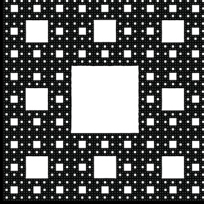 Sierpinski Carpet pillow panel