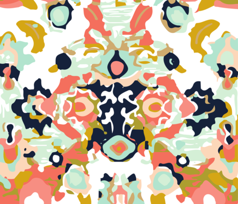 coral jubilee fabric by eivie&co on Spoonflower - custom fabric